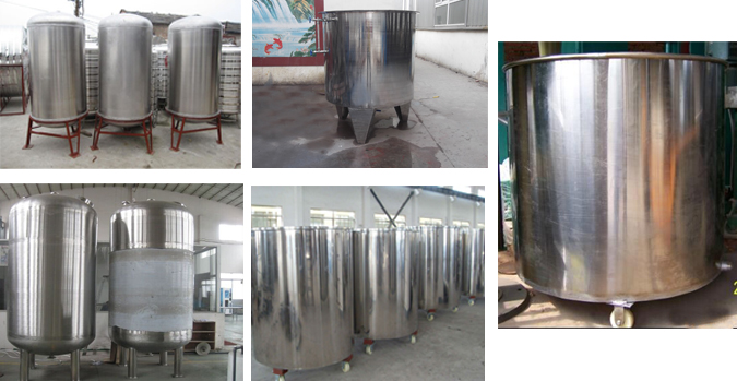 Stainless-steel storage tank