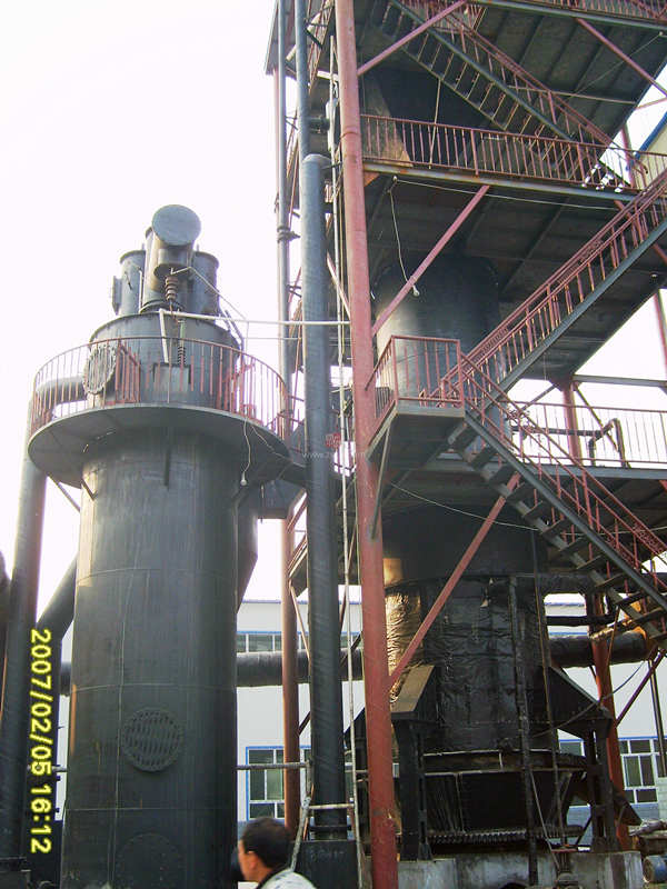 Double-stage cold and hot coal gasifier